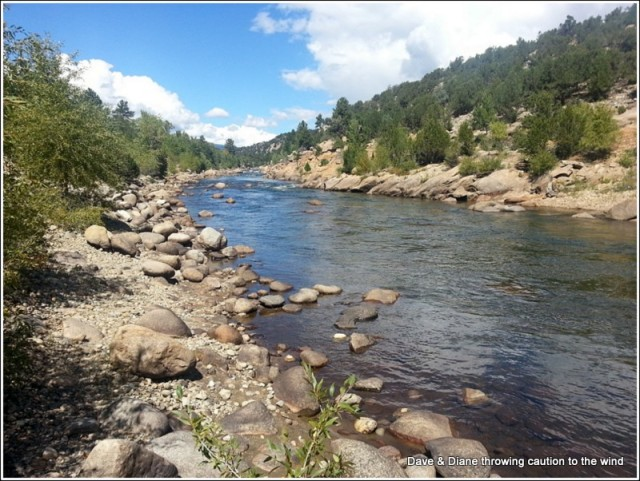 Arkansas River runs right through Buena Vista
