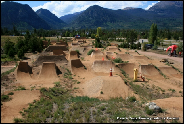 A crazy bike park between Breckenridge and Frisco.
