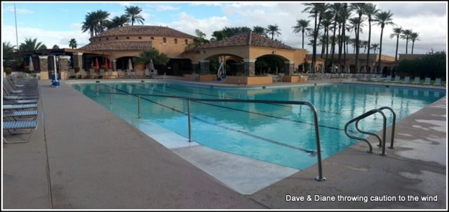 The main pool at Palm Creek