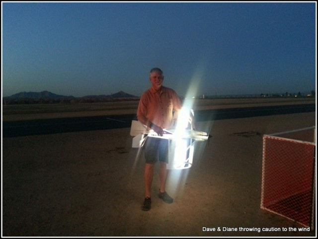 Jerry and his Night Vision Air. It looks really cool in the sky at night.