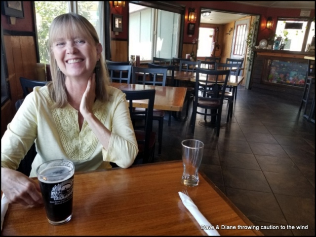 Having lunch at Barnacle Bistro in Gold Beach Oregon