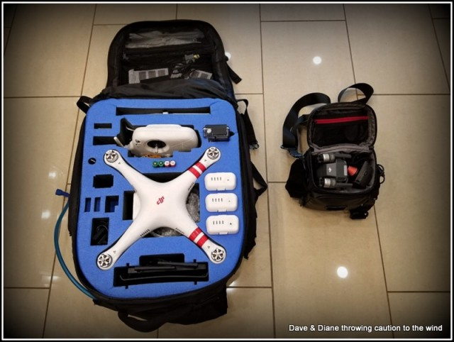 That's both units condensed as small as possible in order to haul them around and have everything in 1 case. Obviously the Phantom to the left and the new Mavic to the right.