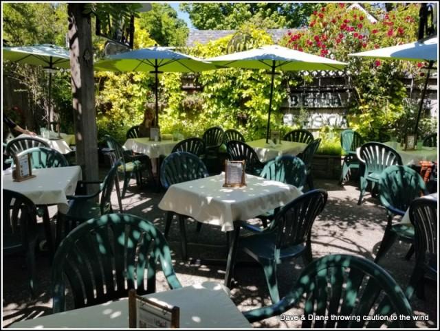 Having lunch at Bella Union Restaurant in Jacksonville Oregon