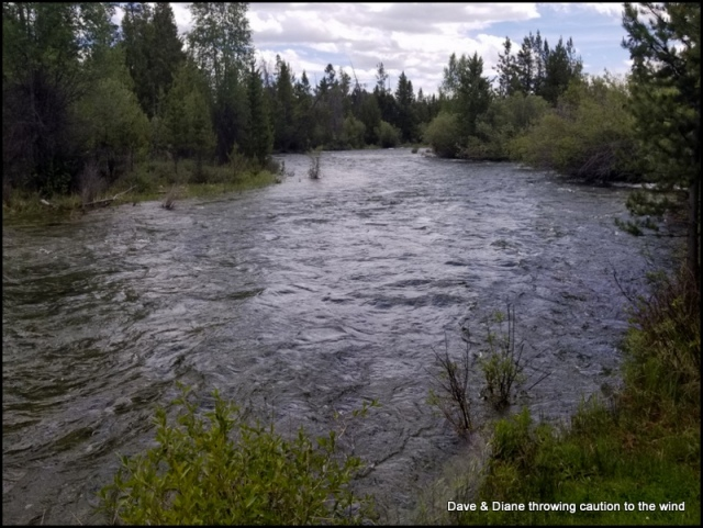 Pine Creek runs through Pinedale Wyoming