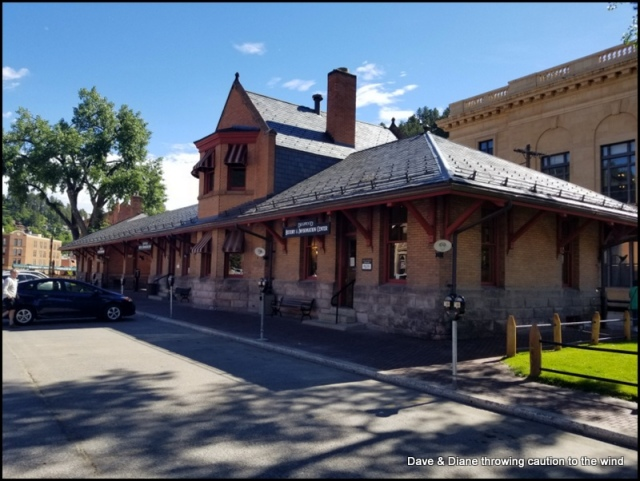 The old train depot in Deadwood.