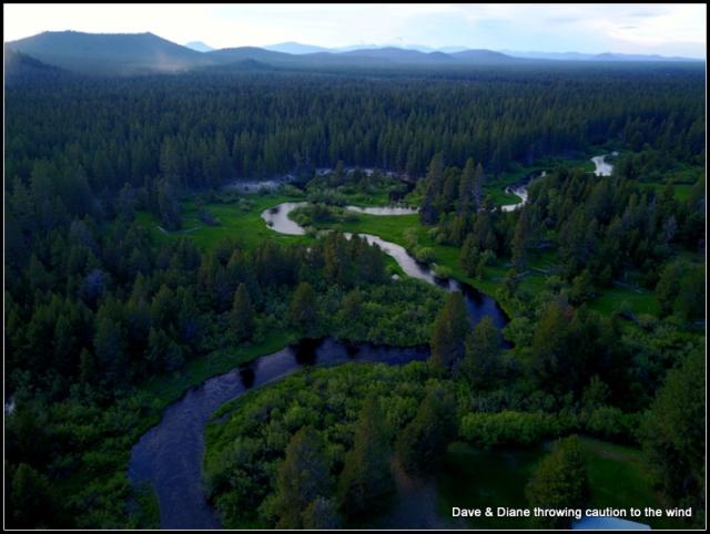 A stretch of the Little Deschutes River that runs inside of Bob & Karen's sub-division.