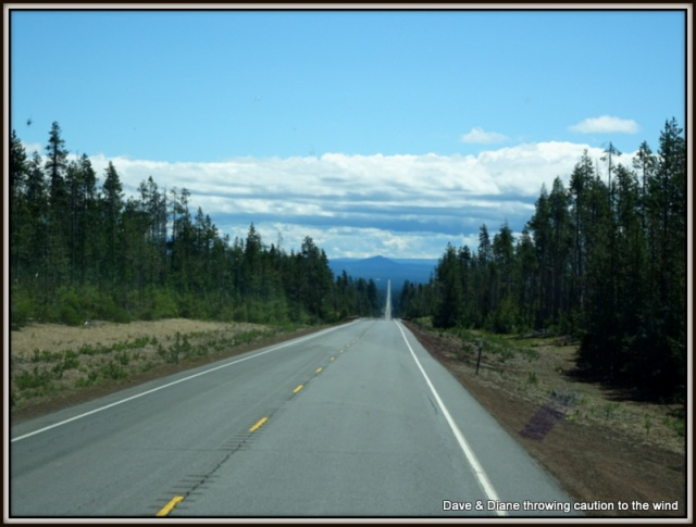 Now that's a long straight stretch of road.
