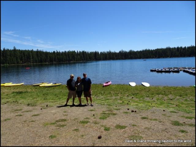 Bob, Karen and me (Dave) at Twin Lakes.