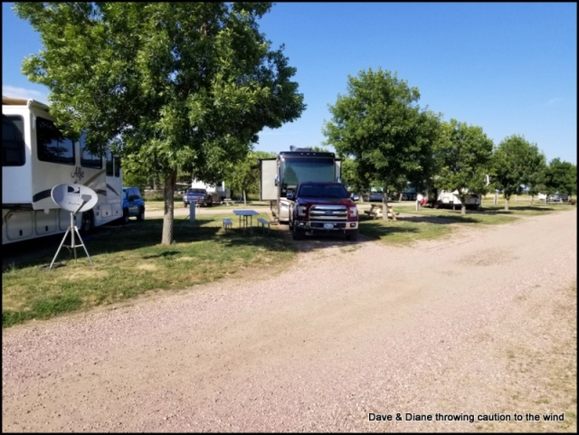 Our site at Hill's RV Park