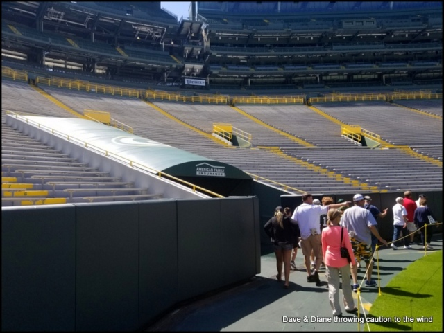 The tunnel the Packers run out of