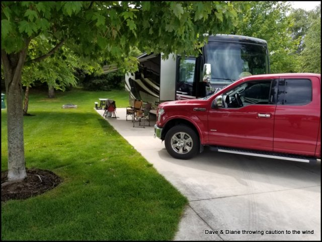 Our site at Petoskey RV Resort