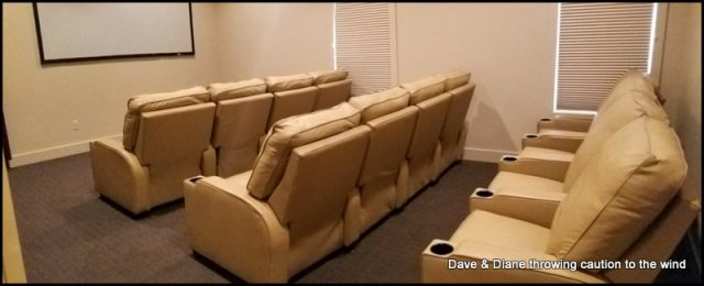 Theater room at Petoskey RV Resort. Anyone can use it at any time.