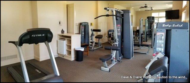 Weight room at Petoskey RV Resort
