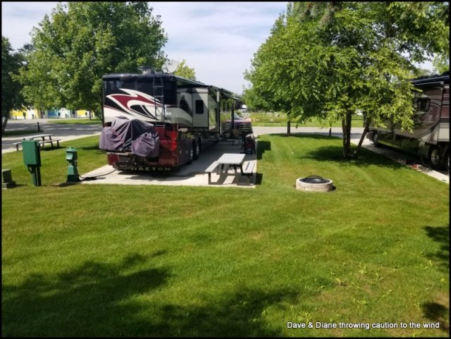 Our site at the Petoskey RV Resort