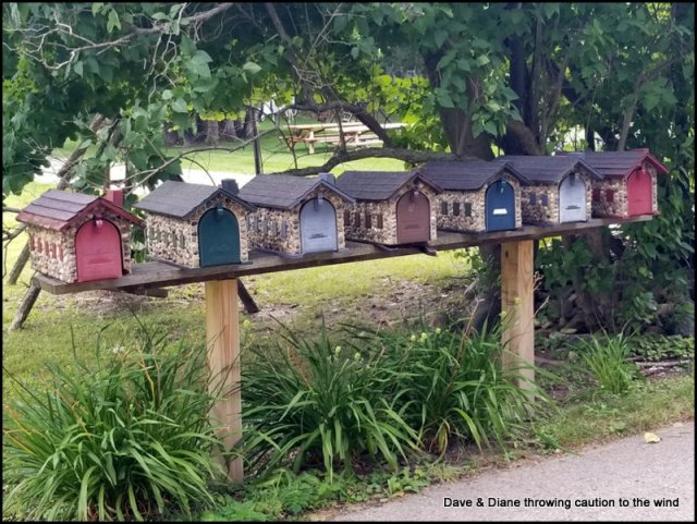 We loved the mail boxes.