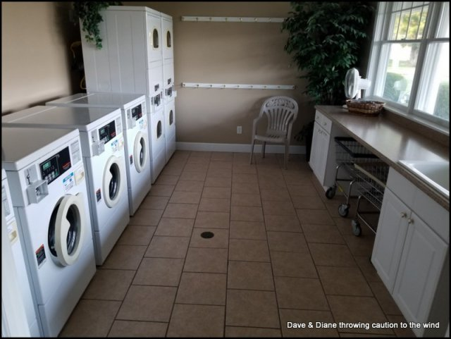 One of 2 laundry rooms in the park