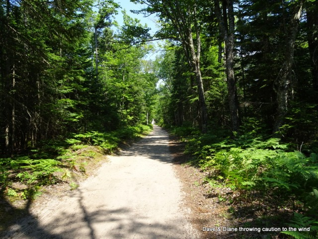 The 1.5 mile trail to Au Sable lighthouse