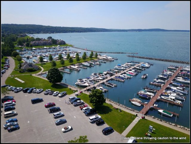 This was 1 of the harbors in Boyne City on Lake Charlevoix