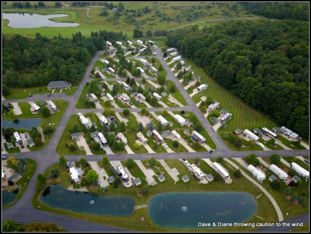 This is the center section where all RV's over 28' can camp.