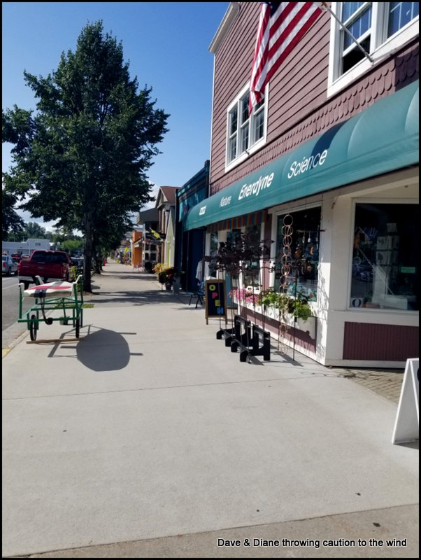 A couple shops in Suttons Bay