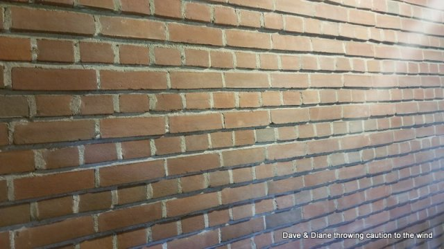Check out the brick pattern and how it is angled from inside to outside instead of being flat. It's for strength.