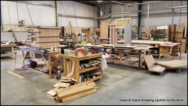 Part of the cabinet shop.