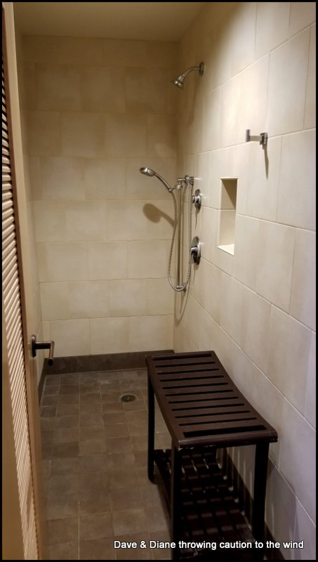 They have some very nice shower rooms available at the park.