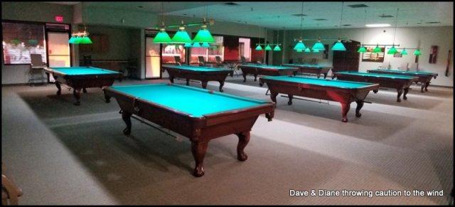 A nice pool hall.