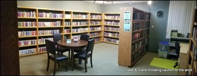 Small library.