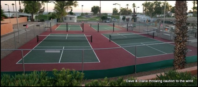 They have 5 Pickelball courts and there is talk of adding 1 more.