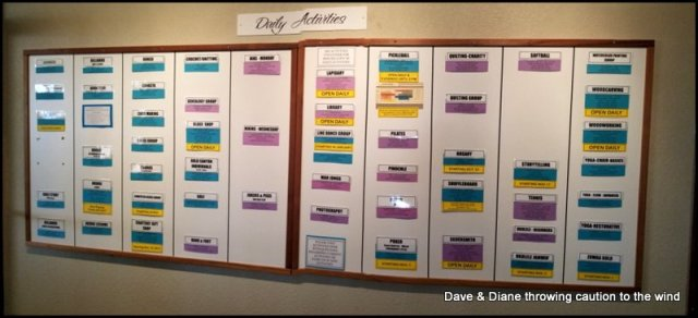 It's early in the season so the Activities Board isn't full yet but you get the idea.
