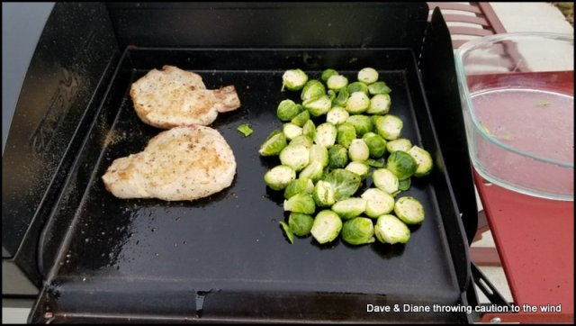 Pork chops & Brussel sprouts
