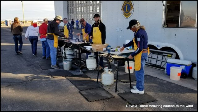 The Lions club cooking up some good food
