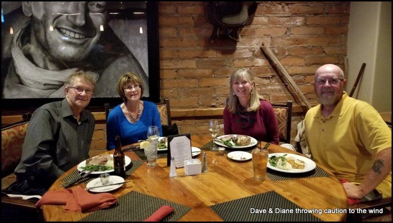 Larry, Jan, Diane & me (Dave)