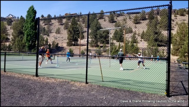 Pickleball courts at Crooked River Ranch