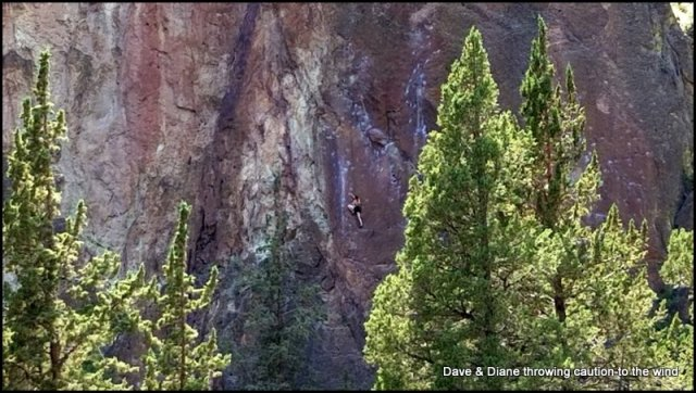 See the person on the rock wall?