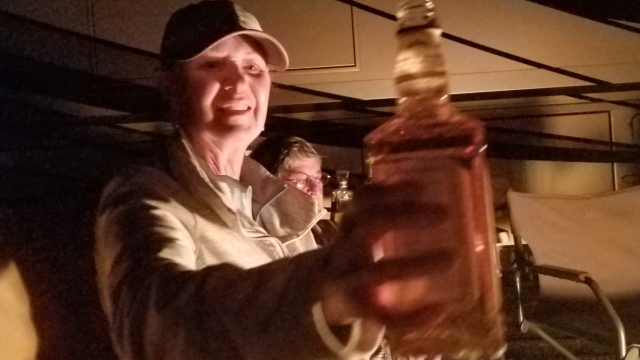 And of course by the end of the night the whiskey bottle started to get passed around.